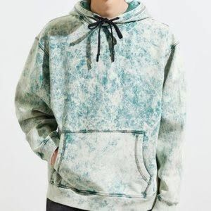 Urban outfitters green acid wash hoodie small